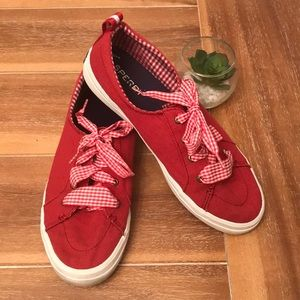 ❤️ Sperry Crest Vibe Gingham Lace Sneaker